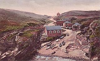 example postcard below old lizard church cove cornwall number 36217