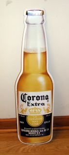 Corona Extra La Cerveza mas Fina Beer Bottle Tin Sign