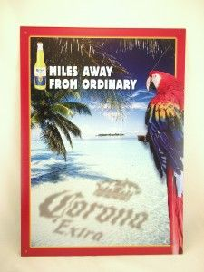 corona beer parrot palm tree metal tin sign new