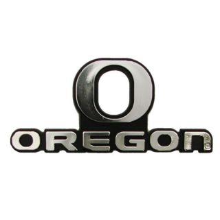 Oregon Ducks Chrome Auto Emblem Decal Football University Of