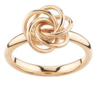 Polished Twisted Love Knot Ring, 14K Gold —