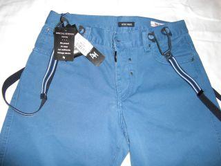 MORATO bermuda short pantaloni corti con bretelle MB4245 T9068 BLUETTE
