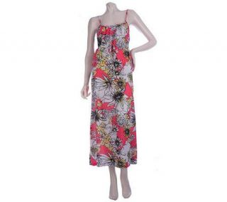Stan Herman Floral Fiji Printed Jersey Maxi Dress   A214440