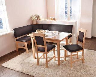 Modern beech wood dining set kitchen booth breakfast nook corner bench