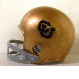 Custom Pocket Pro Helmet Colorado Buffaloes Throwback 2 Bar 1969 1972