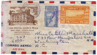 costa rica cover to usa soccer flags university 1943