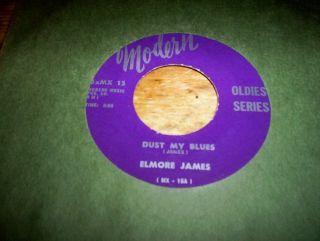 JAMES DUST MY BROOM b w HAPPY HOME MODERN Records DELTA BLUES 45 VG