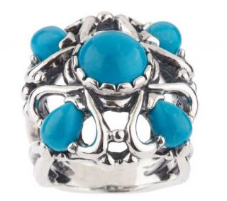 Carolyn Pollack Sterling Turquoise Elegance Ring —