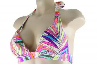 Famous Catalog New Multi Color Palm Tree Pattern Halter Swimsuit