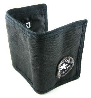 Converse All Star Phantom Black Canvas Trifold Wallet