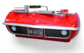 chevrolet 1969 corvette 3 d front wall shelf red rev