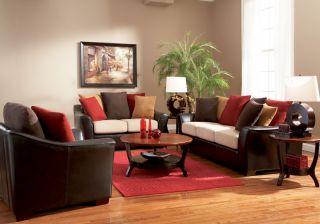 pillow back living room vinyl sofa couch wooden legs description