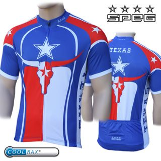 Speg Texas 100 Coolmax Cycle Cycling Jersey USA United States RRP $80