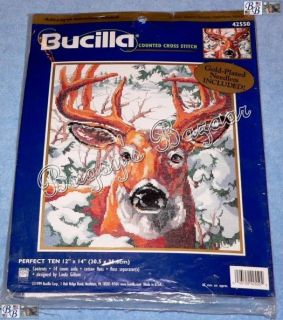 Ten Point Buck Deer Counted Cross Stitch Picture Kit L Gillum