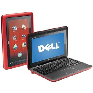 Dell Inspiron Duo Convertible Laptop Tablet PC Netbook in FASTBACK RED