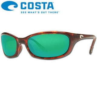 Costa Del Mar Harpoon 400G Tortoise Green Mirror Polarized Sunglasses