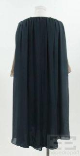 Costello Tagliapietra Grey Tan Ombre Silk Gathered Dress Size 4 New