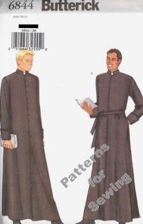 Pattern Men Priest Monk Robe Vestments Costume Sz 44 48