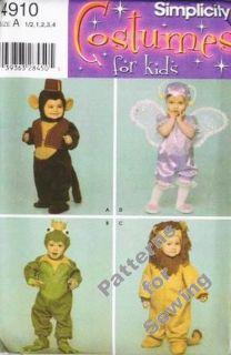 Toddler Boy Girl Frog Lion Monkey Fairy Costume Pattern