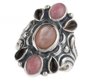 Carolyn Pollack Sterling Strawberry Mocha Ring —