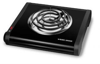 Black Amp Decker SB1001B Single Burner Portable Buffet Range