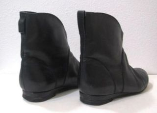 Rachel Comey Beautiful Black Soft Leather Flat Ankle Boots Womens Sz 7