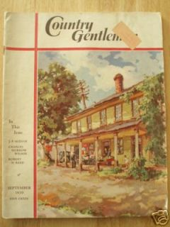 Country Gentleman Gentlewoman Magazine September 1939