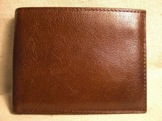 Countess Mara Mens Brown Genuine Leather Bifold Wallet