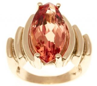 Estate Jewelry Marquise Imperial Topaz Ring 14KGold, C. 1940s