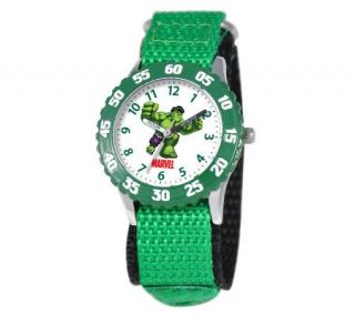 Marvel Incredible Hulk Stainless Steel Time Teacher Watch   J308258
