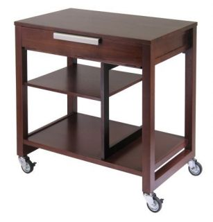 Mobile Roll Compact Office Antique Solid Wood Computer Writing Desk