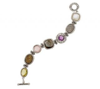 Michael Dawkins Sterling Averag Multi Gemstone 12.0 cttw Toggle