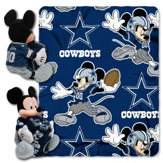 Dallas Cowboys Disney Mickey Mouse Ultimate 5pc Set Hugger, Pillow