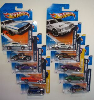 2011 HOT WHEELS COMPLETE SETS OF 10  EXCLUSIVES W/ REDLINE