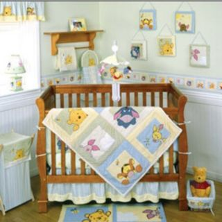 Disney Baby Peeking Pooh Friends Complete Crib Set