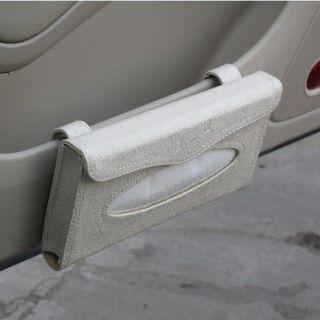 Auto Car Sun Visor Tissue Box Cover Paper Towel Case Napkin Holder