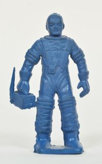 Vintage 1950s Marx Tom Corbett Spaceman Playset Figure Blue Astronaut