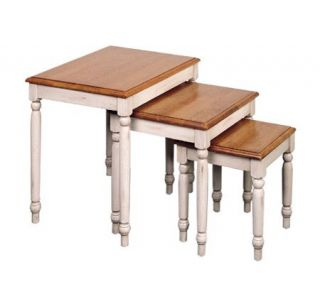 Country Cottage Solid Wood Nesting Table Set byOffice Star —
