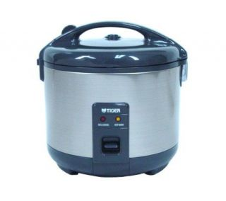 Tiger 10 Cup Stainless Steel Rice Cooker/Warmer —