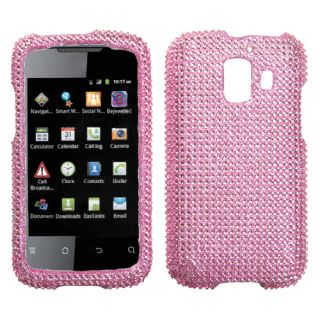 For at T Huawei U8665 Fusion 2 Phone Case Cover Bling Rhinestones Pink