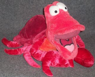 Little Mermaid Sebastian The Crab Red Plush Animal