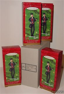 Lot of 4 2000 Hallmark Harley Davidson Barbie Ornaments in Shipper Box