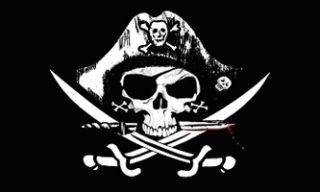 Deadman Chest Pirate Jolly Roger Flag Tricorner 3x5
