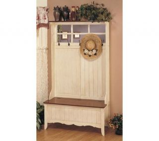 Powell French Country Hall Tree with Storage Bench —