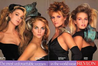 1989 Revlon Jerry Hall Rachel Williams Patti Hansen Ad