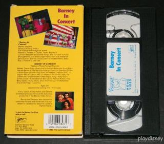 barney in concert vhs video tape baby bop 21 songs majestic theater