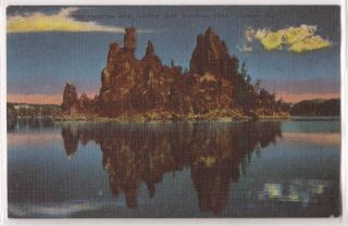 Crater Lake National Park Oregon Postcard Phantom SHIP Night View