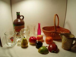 Junk Box Kitchen Box Mickey Mouse Vintage Fruit Bottle Frankoma