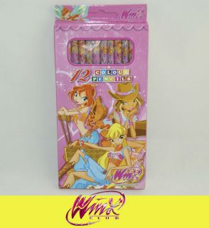 12 Different Colors of Winx Club Girls Fairy Crayon Color Pencils SY04