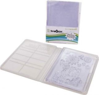 ScrapOnizer   The Clear Solution   8.5 x 11 Clear File Folders   2